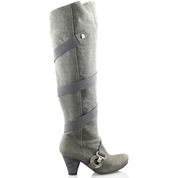 Sapatos Mulher Botas altas Gino Vaello OIL GRIS