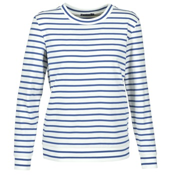 Textil Mulher Sweats Petit Bateau BEAM Branco / Marinho