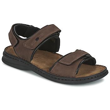 Sapatos Homem Sandálias Josef Seibel RAFE Castanho / Preto