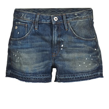 Textil Mulher Shorts / Bermudas G-Star Raw ARC BF RIPPED SHORT WMN Azul / Escuro