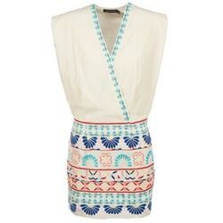 Textil Mulher Vestidos curtos Antik Batik POLIN Branco / Multicolor