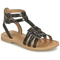 Sapatos Rapariga Sandálias Shwik LAZAR BUCKLE Preto
