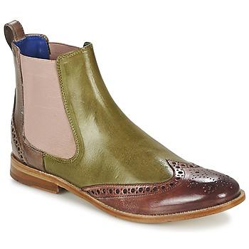 Sapatos Mulher Botas baixas Melvin & Hamilton AMÉLIE 5 Verde / Rosa / Bege