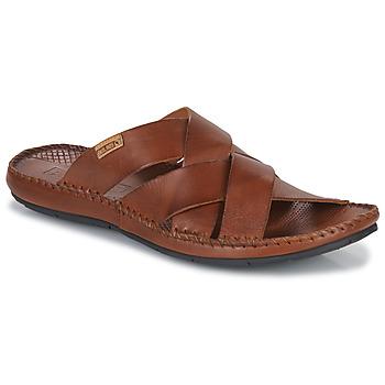 Sapatos Homem Chinelos Pikolinos TARIFA Castanho