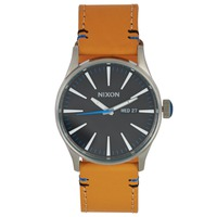 Relógios Homem Relógios Analógicos Nixon Sentry Leather Bege / Preto