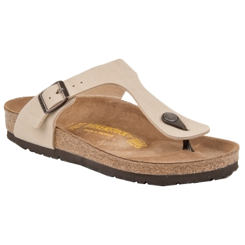 Sapatos Mulher Chinelos Birkenstock GIZEH Bege