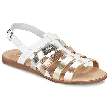 Sapatos Rapariga Sandálias Citrouille et Compagnie PEQUEBELLO Branco / Dourado
