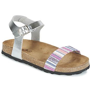 Sapatos Rapariga Sandálias Citrouille et Compagnie IGUANA Prateado / Multicolor