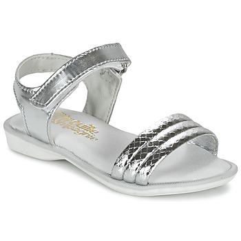Sapatos Rapariga Sandálias Citrouille et Compagnie GOSAGOLA Prateado