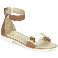 Sapatos Rapariga Sandálias Citrouille et Compagnie MINIMAZA Camel / Dourado