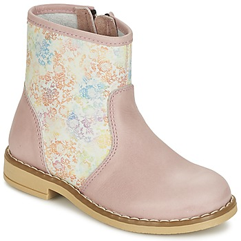Sapatos Rapariga Botas baixas Citrouille et Compagnie OUGAMO LIBERTY Rosa / Florido