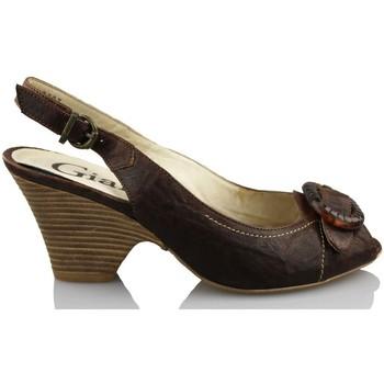 Sapatos Mulher Sandálias Giana Di Firenze GIANNA DI FIRENZE ETRUSCO MARRON