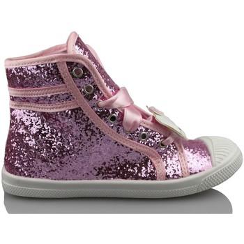Sapatos Rapariga Sapatilhas de cano-alto Hello Kitty CAMOMILLA MILANO GLIPPER ROSA