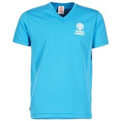 Textil Homem T-Shirt mangas curtas Franklin & Marshall DOBSON Azul