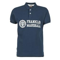Textil Homem Polos mangas curta Franklin & Marshall AYLEN Marinho