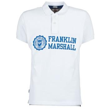 Textil Homem Polos mangas curta Franklin & Marshall AYLEN Branco