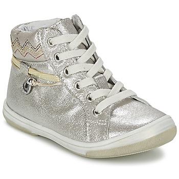 Sapatos Rapariga Sapatilhas de cano-alto Catimini CALLUNA Bege / Prateado