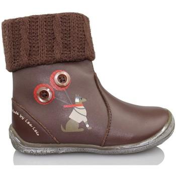 Sapatos Rapariga Botins Lea Lelo LEA LEO DRESSY TESTA DI M LANA MARRON