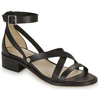 Sapatos Mulher Sandálias Casual Attitude COUTIL Preto