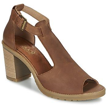 Sapatos Mulher Sandálias Casual Attitude GUIGNET Camel