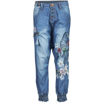Textil Mulher Calças finas / Sarouels Desigual ANIATINE Azul