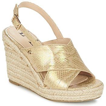 Sapatos Mulher Sandálias Elle CAMPO Bege / Ouro