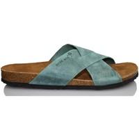 Sapatos Homem Chinelos Interbios S  AQUILES 9509 AZUL