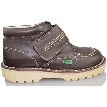 Sapatos Criança Sapatilhas de cano-alto Rubio Y Castaño RUBIO Y CASTANO NAPA MARRON RALLYC MARRON
