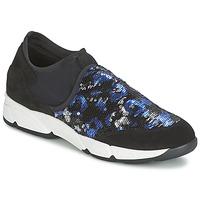 Sapatos Mulher Slip on Meline LEO Preto / Azul