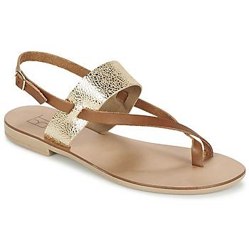 Sapatos Mulher Sandálias Betty London EVACI Camel / Dourado