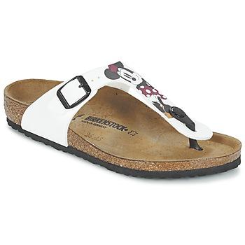 Sapatos Criança Chinelos Birkenstock GIZEH Branco / Vermelho