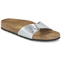 Sapatos Mulher Chinelos Birkenstock MADRID Prata