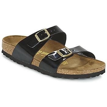Sapatos Mulher Chinelos Birkenstock SYDNEY Preto / Verniz