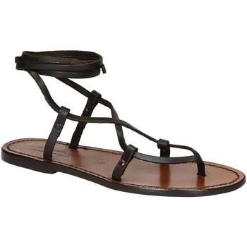 Sapatos Mulher Sandálias Gianluca - L'artigiano Del Cuoio 518 D MORO CUOIO Testa di Moro