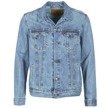 Textil Homem casacos de ganga Levi's THE TRUCKER JACKET Gelo