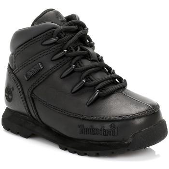 Sapatos Rapaz Botas baixas Timberland Enfant Noir Euro Sprint Bottes En Cuir Timberland_535
