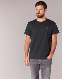 Textil Homem T-Shirt mangas curtas Gant THE ORIGINAL SOLID T-SHIRT Preto