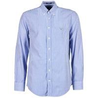 Textil Homem Camisas mangas comprida Gant THE POPLIN BANKER STRIPE Azul