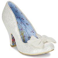 Sapatos Mulher Escarpim Irregular Choice NICK OF TIME Branco / Brilhante