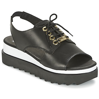 Sapatos Mulher Sandálias Love Moschino BASIC SANDAL Preto / Branco