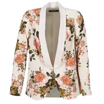 Textil Mulher Casacos/Blazers Vila VIFLOURISH BLAZER Bege / Florido