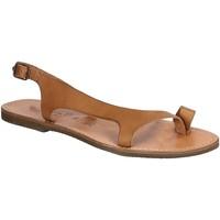Sapatos Homem Sandálias Gianluca - L'artigiano Del Cuoio 526 D CUOIO GOMMA Cuoio