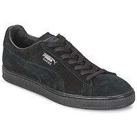 Sapatos Sapatilhas Puma SUEDE CLASSIC Preto / Cinza
