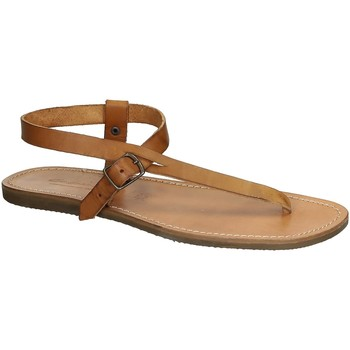 Sapatos Mulher Sandálias Gianluca - L'artigiano Del Cuoio 592 U CUOIO GOMMA Cuoio