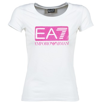 Textil Mulher T-Shirt mangas curtas Emporio Armani EA7 BEAKON Branco