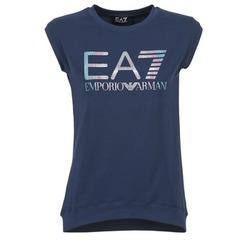Textil Mulher T-Shirt mangas curtas Emporio Armani EA7 ANDROUL Marinho