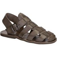 Sapatos Mulher Sandálias Gianluca - L'artigiano Del Cuoio 502 U FANGO GOMMA Fango