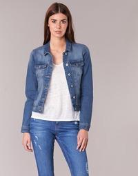 Textil Mulher casacos de ganga Only NEW WESTA Azul