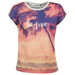 Textil Mulher T-Shirt mangas curtas Only BE FREE SUMMER Multicolor