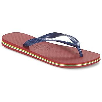 Sapatos Chinelos Havaianas BRASIL LOGO Marinho / Vermelho